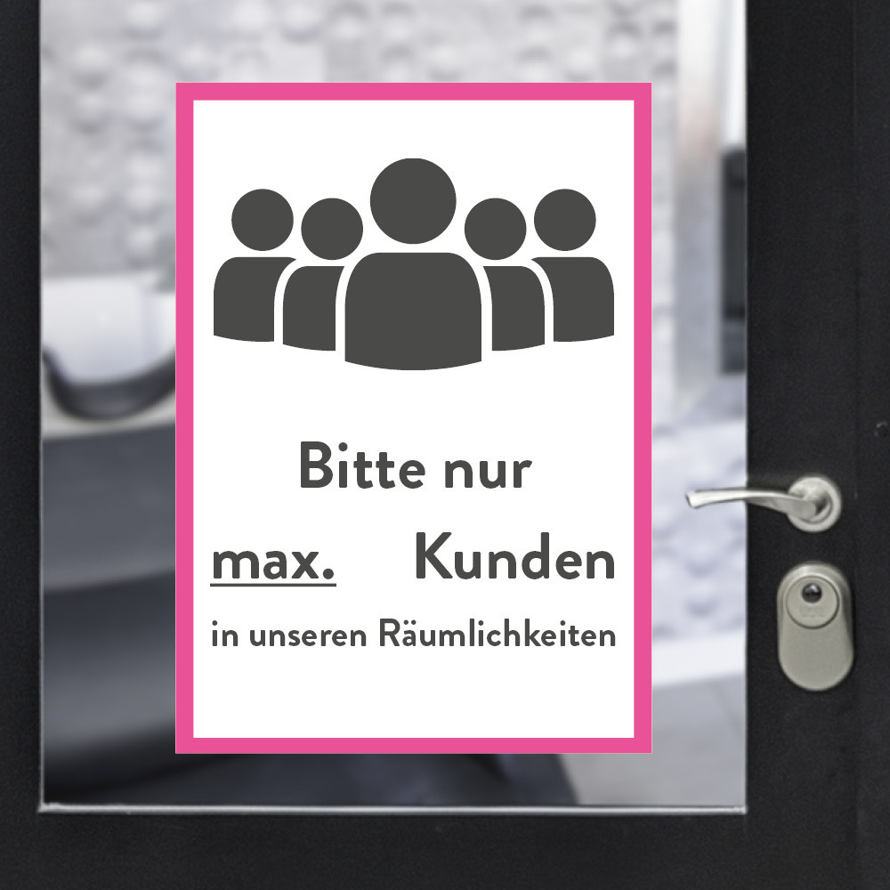 Sticker A3 max customers pink