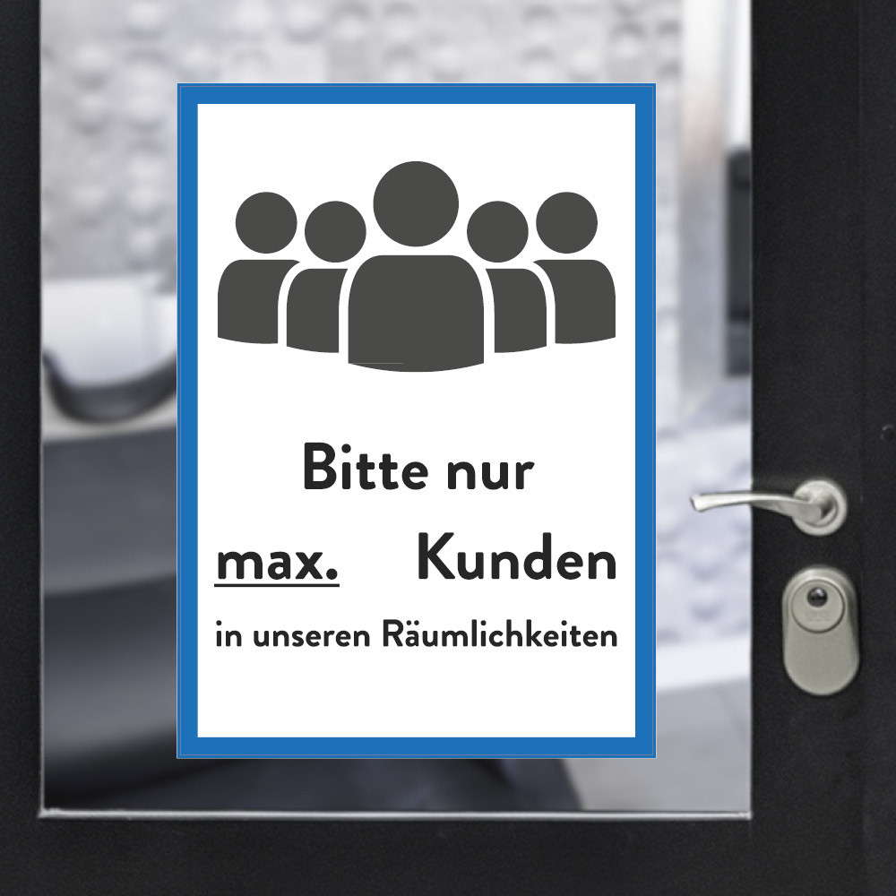 Sticker A3 max customers blue