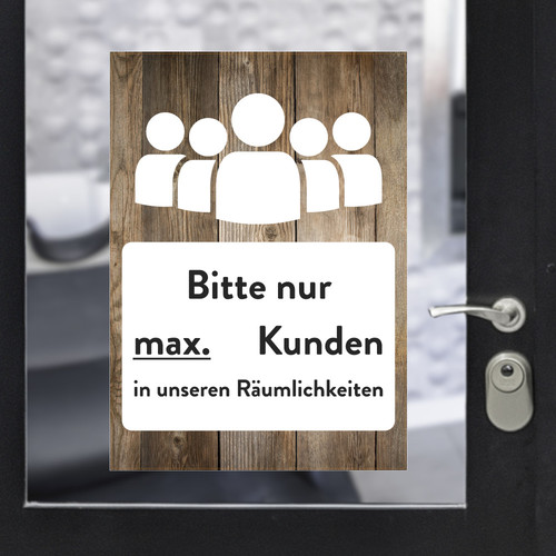 Sticker A3 max customers wood