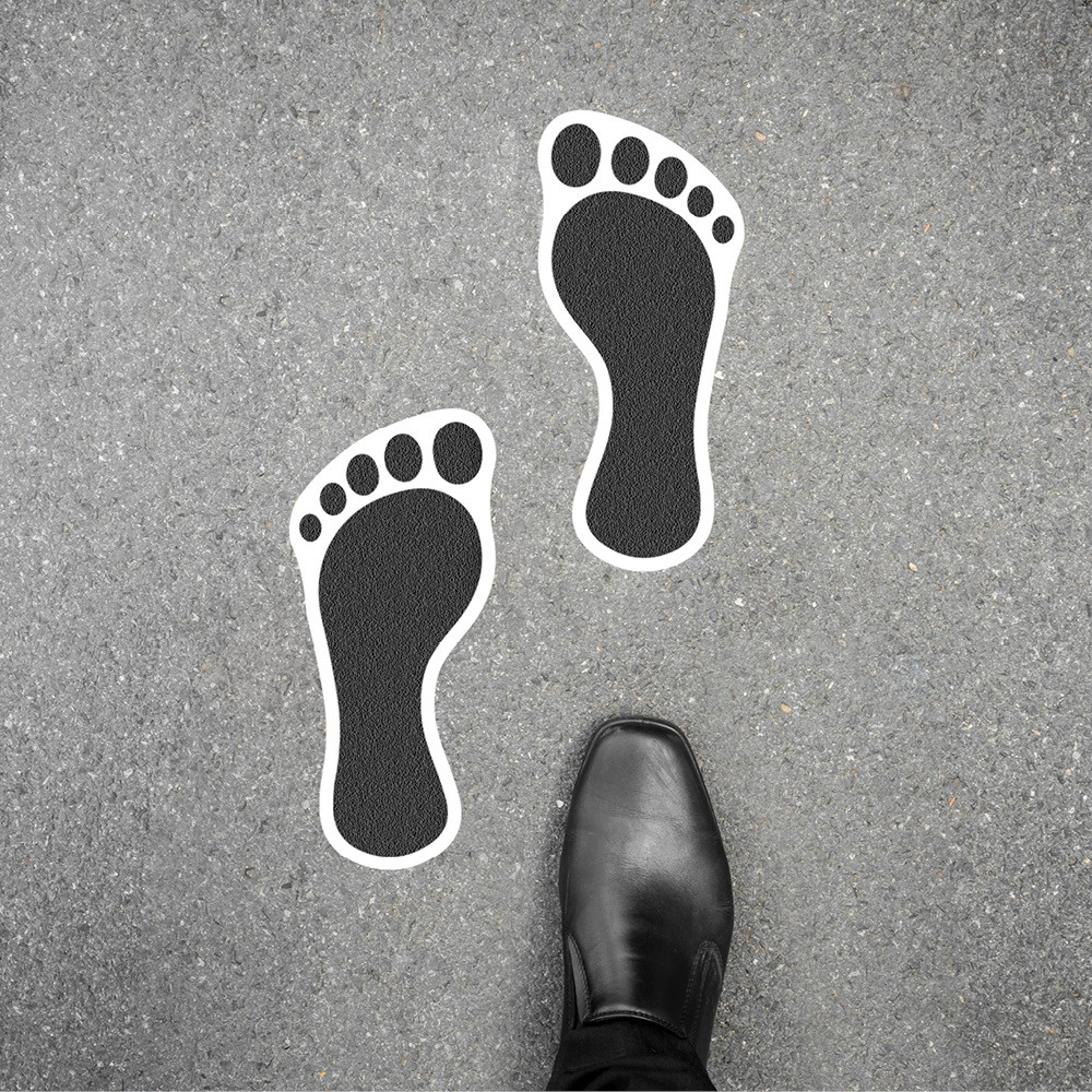 floor graphics feet black